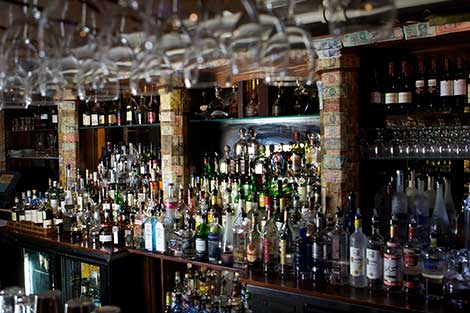The Back Bar at Raintree Restaurant in St. Augustine, Florida