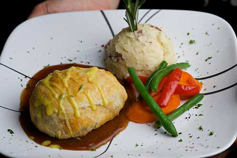 Beef Wellington at Raintree Restaurant in St. Augustine, Florida