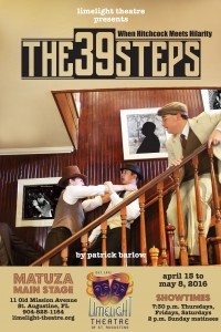 Limelight Theatre Presents The 39 Steps April 15 - May 8, 2016