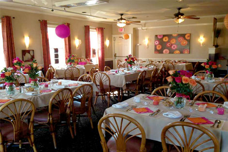 group event venue at Raintree Restaurant in St. Augustine, Florida