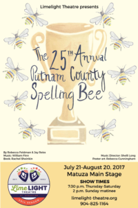 Limelight Theatre Presents The 25th Annual Putnam County Spelling Bee July 21st - August 20, 2017