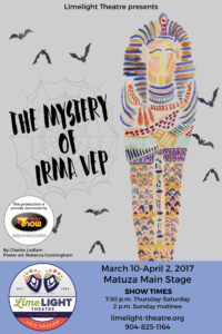 Limelight Theatre Presents The Mystery of Irma Vep March 10 - April 2, 2017