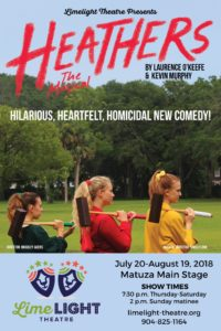 Limelight Theatre Presents Heathers The Musical July 20 - August 19, 2018