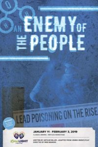 Limelight Theatre Presents An Enemy of the People January 11 – February 3, 2019